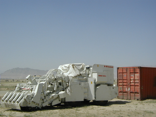 Demining Machine from Kabul to Osaka
